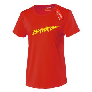 LADIES LICENSED BAYWATCH ® RED COOLTEX FITTED T-SHIRT